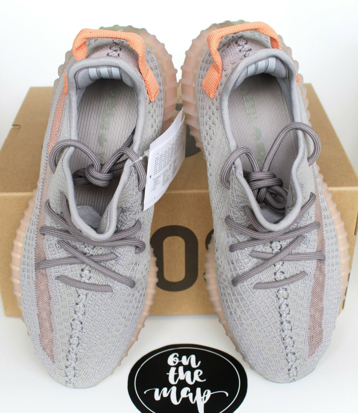 Adidas Yeezy Boost 350 350 350 V2 Vero UK Argilla Grigio Form 3 4 5 6 7 8 9 10 11 12 13 NUOVO 5f8b39