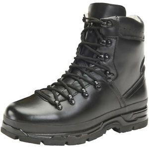 bf4397ee12a535 Image is loading Brandit-BW-Mountain-Boots-Leather-Hiking-Tactical-Outdoor-