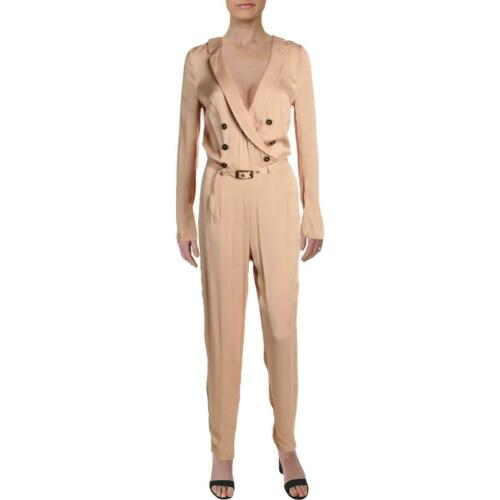 Free People Womens I Am A Woman Beige Double-Breasted Jumpsuit 2 BHFO 3406