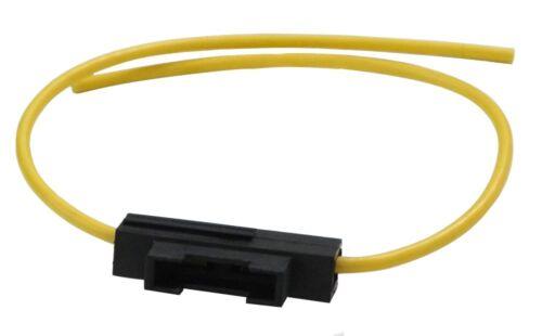 Porte-fusible jaune socle pour fusibles plats 19mm midi 20A 2.5mm2