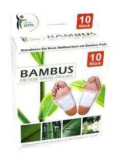 10 Stuck Bambuspflaster Detox Vitalpflaster Fusspflaster Bambus Pads