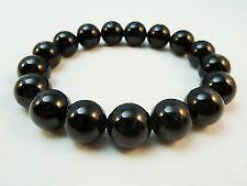 Black Tourmaline Stone Bracelet 8mm Powerful Protection Against Negative Energy