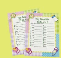 Baby Necessities A-z Shower Game (24) Sheets Party Fun Favor