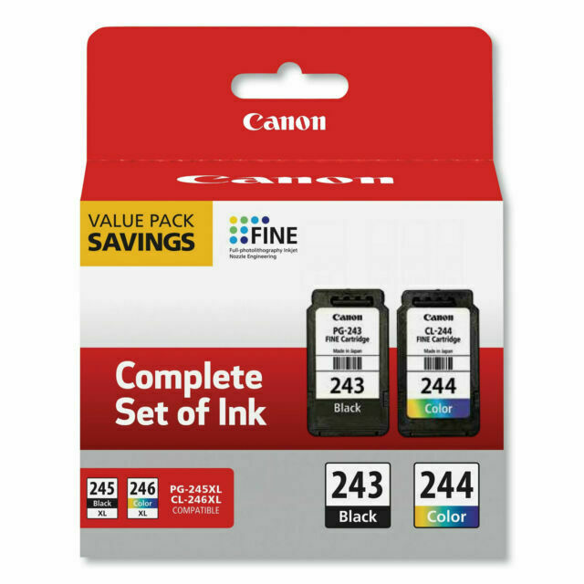 PG-243/CL-244 same as  PG-245/CL-246 Ink Cartridges- Combo Pack