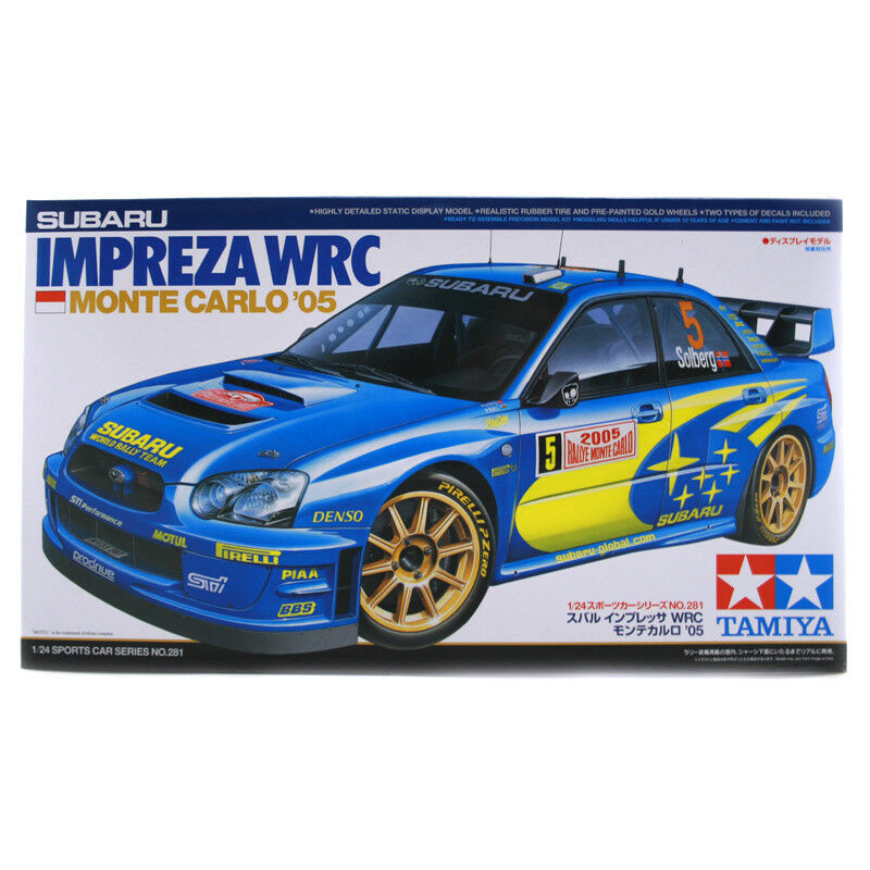 Tamiya Subaru Impreza WRC Monte Carlo '05 Model Set (Scale 1 24) 24281 NEW