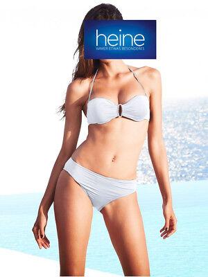 Cup C Weiß KP 79,90 € SALE/%/%/% Heine NEU!! Softcup-Bandeau-Bikini