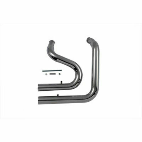 """Radii Chrome Stacked Exhaust Drag Pipes Header 2 1//4/"""" 1985-2006 Harley Softail"""