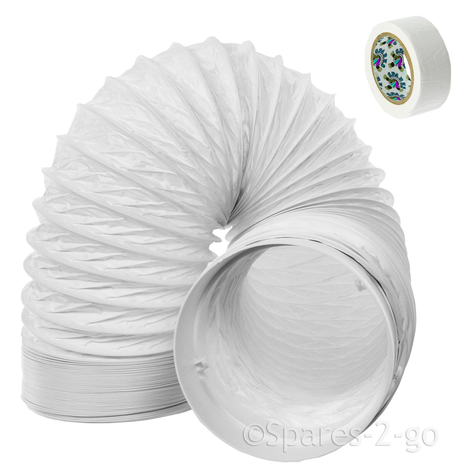 """Conducto de PVC de manguera de ventilación de 3 m, extensión de 5 \""""para el acondicionador de aire Delonghi"""