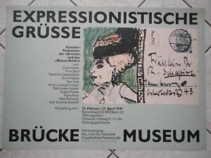 Plakat-Expressionistische-Gruesse-Kuenstler-Postkarten-034-Die-Bruecke-034-Berlin-1991
