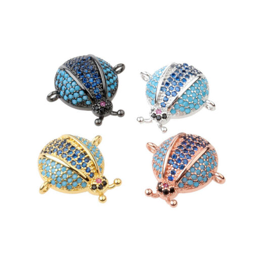 Zircon Micro Pave Star War Fox Fish Crab Evil Connector Charm Beads Bracelet