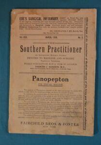 Details about The Southern Practitioner Journal March 1908 Vintage Medicine  Surgery Nashville