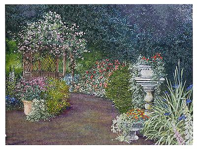 """Rose Garden size 6/"""" x 8/"""" Dufex Foil Picture Print"""