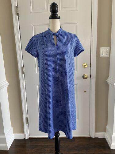 J. McLaughlin blue flowy catalina dress sz M