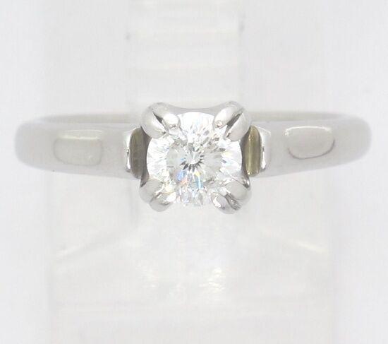 Platinum Round Dimaond Solitaire Engagement Ring .50ct 6.3grm