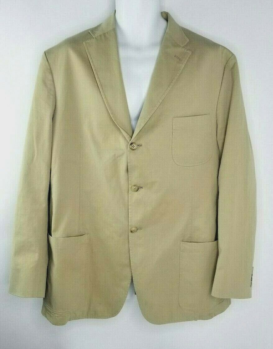 Bills Khakis Lightweight Button sport Coat jacke Tan Made in the USA Größe XL