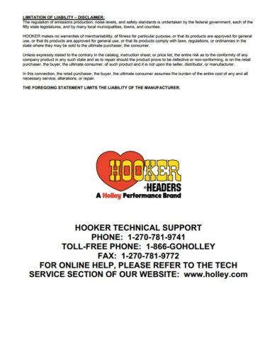 "Hooker 21505 Aero Chamber Muffler 3/"" Offset Inlet Center Outlet 21505HKR New"