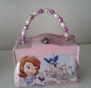 Disney-Princess-Sofia-The-First-Tin-Metal-Snack-Lunch-Box-Purse-Carry-All-5