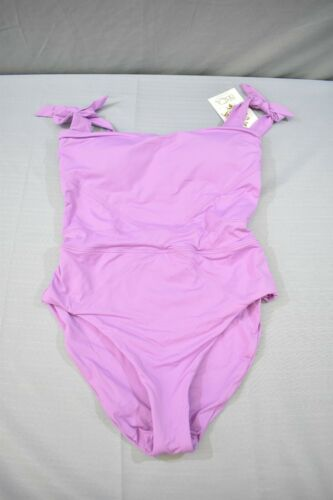 Purple NEW Women/'s Size Small BECCA Color Code One-Piece Swimsuit
