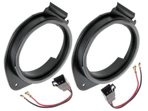 Lautsprecherringe+Adapterkabel für Opel Mokka 165mm vordere+Heck Lautsprecher