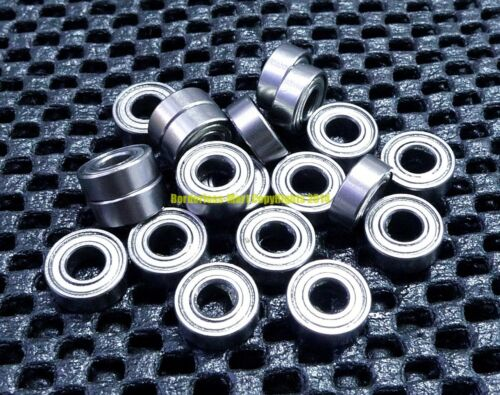 "5 Pcs Metal Shielded Ball Bearing Bearings R3 R3ZZ 3//16/"" X 1//2/"" X 0.1960/"""