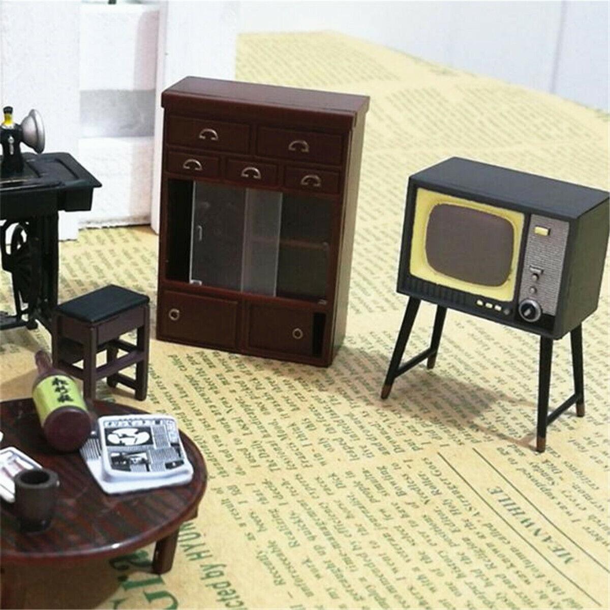 6Pcs//Set Mini Janpanese Doll House Miniature Vintage Furniture Set Home