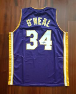 8cf02e66efe Image is loading Shaquille-O-039-Neal-Autographed-Signed-Jersey-LA-