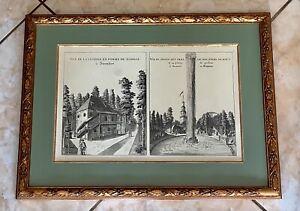 Ancienne Double GRAVURE Encadrée Sous Verre 1900 Vues de STEINFORT WEFIPHALIE