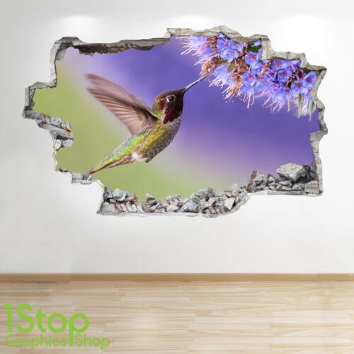 Oiseau fleur autocollant mural 3D look-chambre à coucher lounge nature animal applique murale Z103