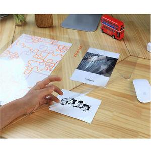 18 x 24 transparent desk pad for photos business cards drawings rh ebay com transparent desk pad ikea School Desk Transparent