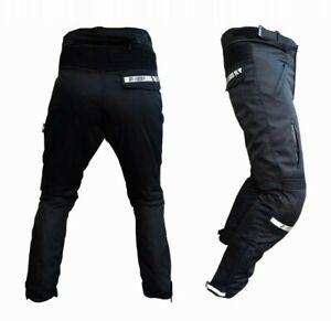 Pantalone-Moto-in-Cordura-Altavisibilita-Impermiabile-Termico-Estrabile-S-M-L-XL
