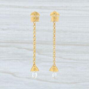 Marie-Helene-de-Taillac-Diamond-Briolette-Bell-Earrings-22k-Gold-Dangle-Pierced