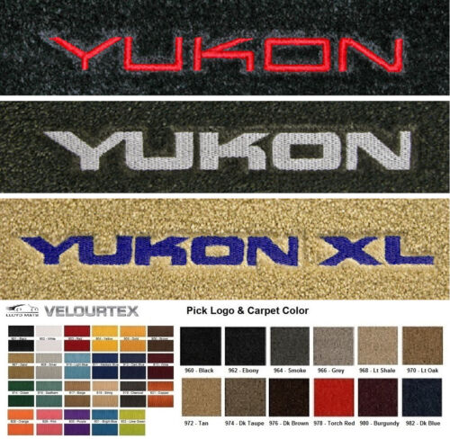 Lloyd Mats GMC Yukon /& Yukon XL Custom Velourtex Front Floor Mats 1992 /& Up