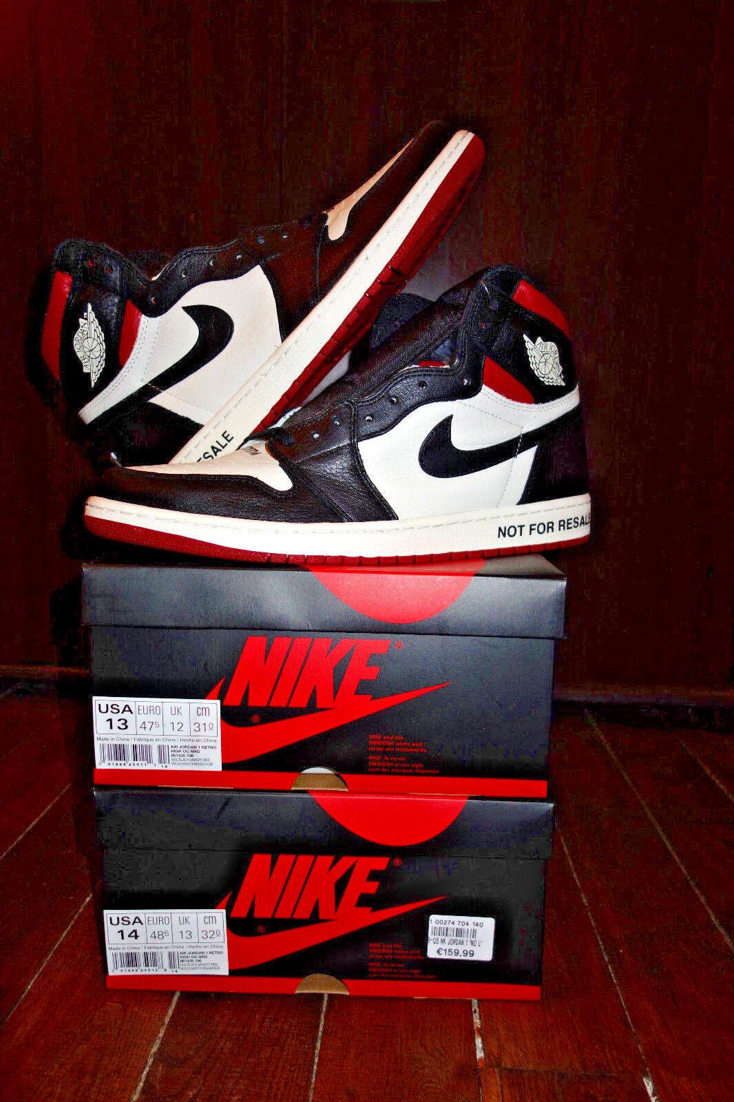 VERY RARE    US14 Nike AIR Jordan 1 I Not For Resale NFR DS QS OG ALL 7b4454