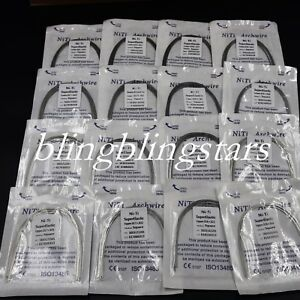10-Pc-Dental-Ortho-Super-Elastic-Niti-Rectangular-Arch-Wire-Square-Natural-Ovoid