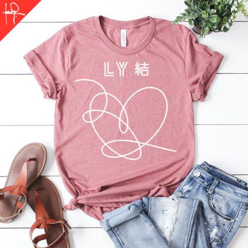 kpop k-pop music BTS Heart /& Logo Love Yourself Unisex T-Shirt bts shirt Tour