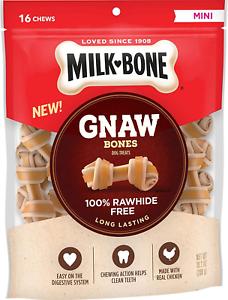 Milk-Bone Gnaw Knotted Dog Chew Treats Chicken Mini Treats ...