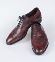 John Lobb Warwick Claret Misty Calf Leather Oxford Shoes Size 10 U.k. $1795