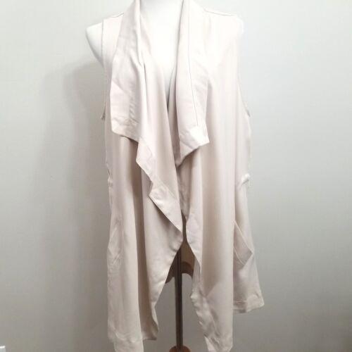 Tencel Womens Large Hallett beige Taglia Drape Gilet anteriore Bone Dakota Bb Cw8qYY