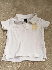 100% Vrai Baby Boys White Babygap Polo-Âge 6-12 Mois-afficher Le Titre D'origine Gagner Les éLoges Des Clients