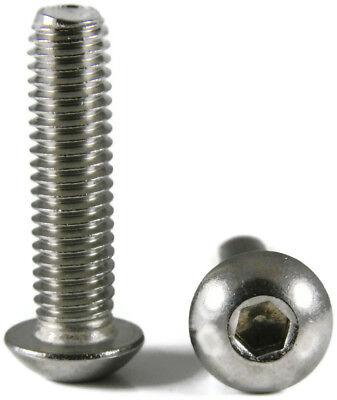Stainless Steel Button Head Socket Cap Screw 5m x .8 x 10m Qty-250 Metric