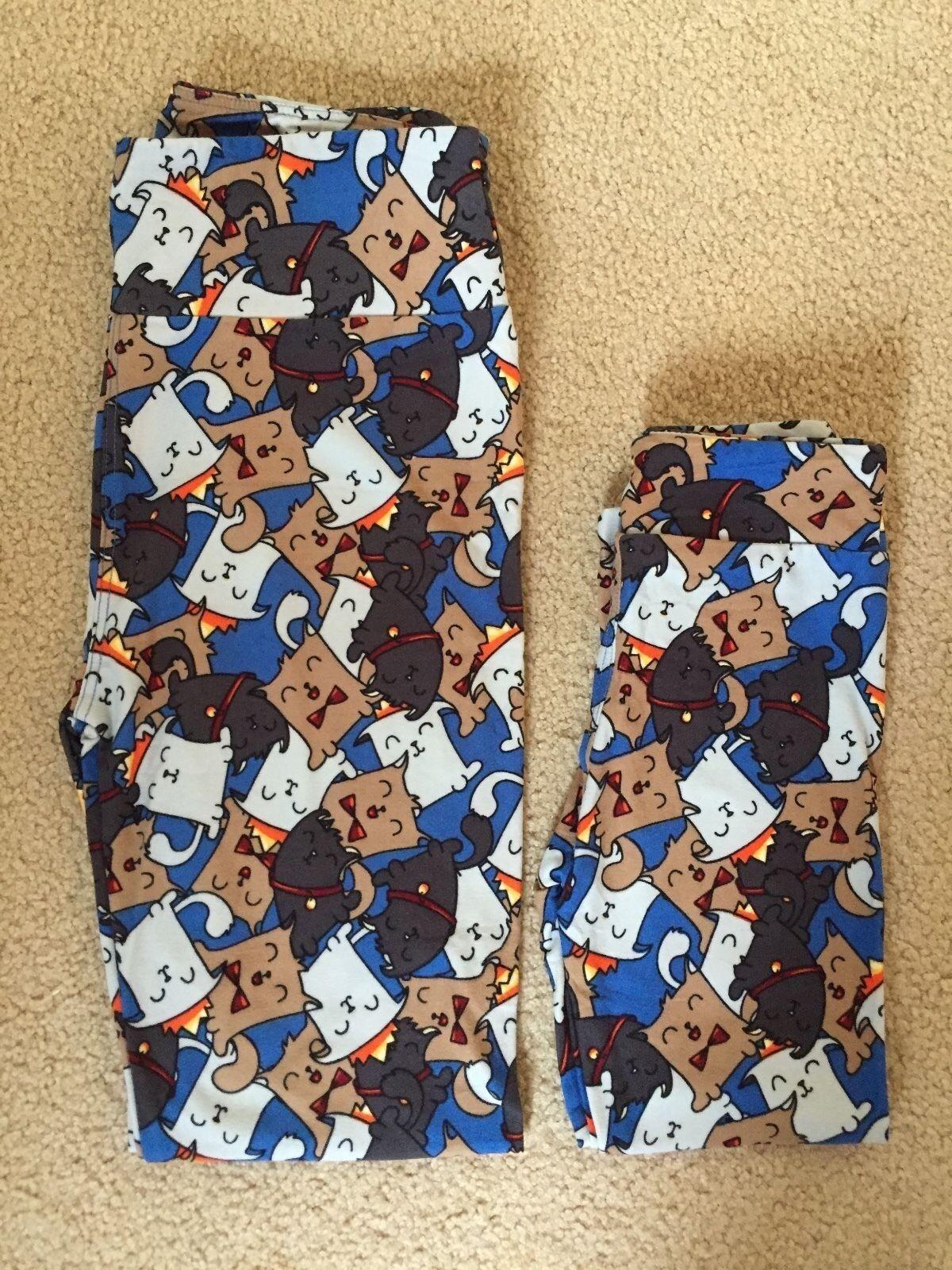 NEW Lularoe Leggings S M & OS Cute Cartoon Dogs w  Bows RARE UNICORN
