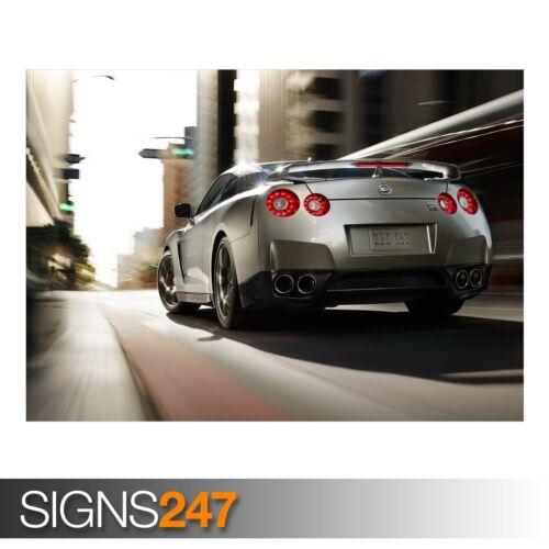 Nissan GTR voiture 1 Voiture Poster-Photo Poster print ART A0 à A4 AB402