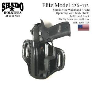 SHADO Leather Holster USA Elite Model 226-112 Left Hand OWB Black Sig Sauer 220