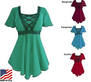 Plus-size-Gothic-Style-Corset-Blouse-Assorted-Colors-1X-2X-3X-4X-5X