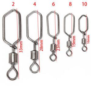 20PcsFishing-Snap-Connector-Coastlock-Square-Barrel-Swivels-Pin-Rolling-Tackle-E