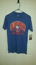 New York Islanders NHL.COM Blue T-Shirt Logo Front Only Men's Size Small NWT