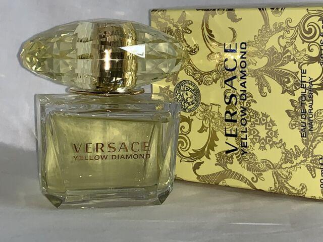 Versace Yellow Diamond  Eau De Toilette woman 3 oz Box damaged