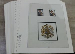 Lindner T Vordrucke Großbritannien 1981-1997  - Vordruckseiten / Vordruckalbum
