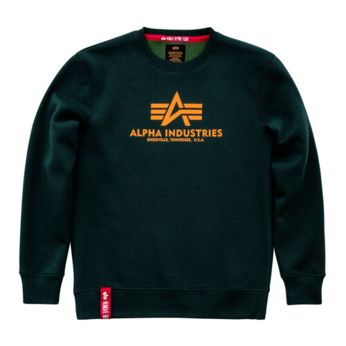Alpha Industries Basic Pullover Sweater black navy white olive grey 178302