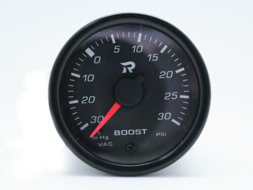 45mm Boost Gauge PSI Scale Miniature Turbo Gauges Meter Electrical White LED
